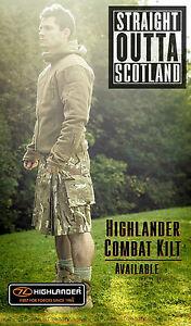 NEU-Highlander-schwarz-MTP-Tarnfarbe-Streichholz-Kampf-Kilt-taktisch