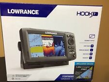 New in Box Lowrance Hook-7 GPS Fish Finder Combo with Lake Insight and Sun Cover