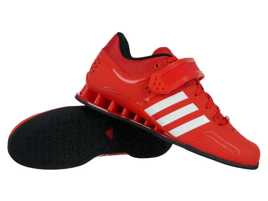 Adidas AdiPower Weightlift Uomo Weightlifting Lace Up Rosso Sports Trainers V24382