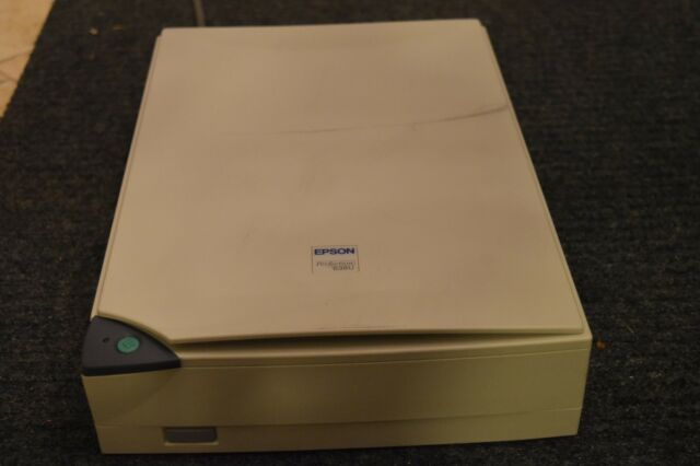 Lightly epson perfection 636u scanner w/ manual software cd usb.