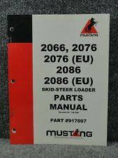 Oem Factory Mustang 2066 2076 2086 Eu Skid Steer Loader Parts Catalog Manual