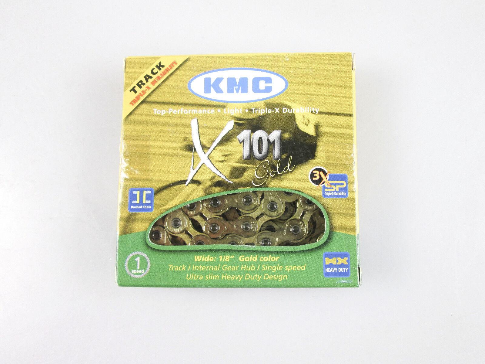 KMC X101 Singlespeed Kette Gold 112 Glieder  | Charakteristisch