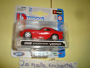 DODGE-VIPER-SRT10-2008-B-BURAGO-ALREDEDOR-DE-7-CM-A-ESCALA-1-64-O-3-INCHIES