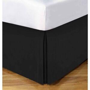 Lux-Impress-100-Egyptian-Cotton-Bed-Skirt-Drop-15-034-Black-Twin-XL-39-x-80-NEW