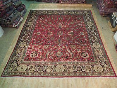 Charming 11x12 Handmade Tabriz Persian Weavers Area Rug