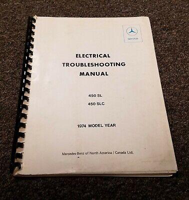 1974 Mercedes Benz 450SL 450SLC 450 SL SLC Electrical Wiring Diagrams Manual  | eBayeBay