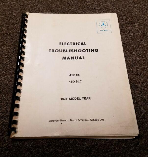 1974 Mercedes Benz 450sl 450slc 450 Sl Slc Electrical