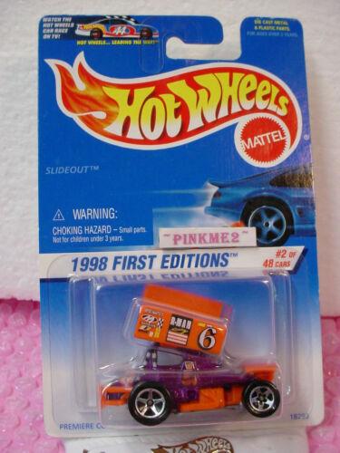 1998 #2 FE Hot Wheels orange /& purple SLIDEOUT #640 variant 48 old card