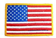 USA STARS & STRIPES CLOTH BADGE iron on US patch bag jacket America flag colour