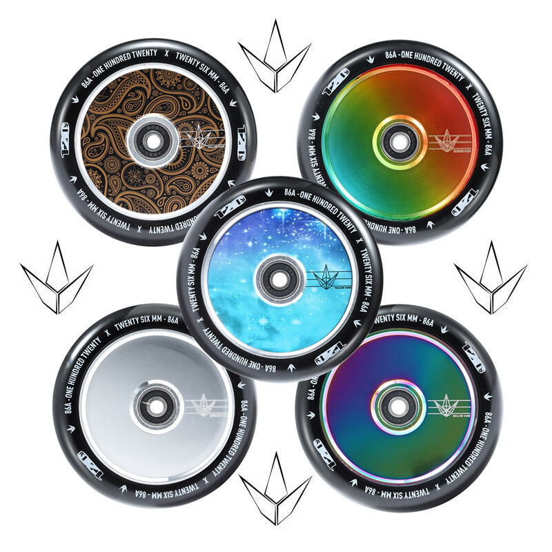 blueNT WHEEL 120MM HOLLOW ALL COLORS SOLD IN PAIRS