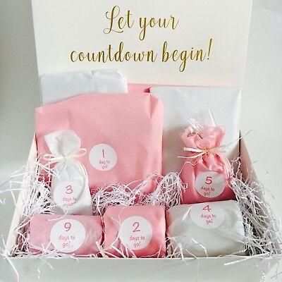 Mariage compte à rebours Boîte Cadeau Kit Bride To Be Special panier 10 jour Avent Calendrier