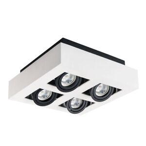 Amical Kanlux Stobi 4 Spot Downlight Spotlight Shop Display Plafonnier Del Inclinable-afficher Le Titre D'origine Doux Et LéGer
