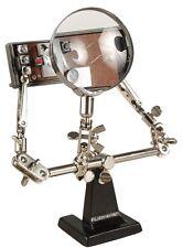 Dritte Hand mit Lupe 2-fache Vergrößerung 46 mm-Ø Löthilfe Montagehilfe Löten