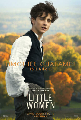 New Little Women Movie 2019 Timothée Chalamet Poster 24x36 27x40 X-1520