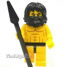 M103g Lego Pirates Castaway / Caveman Minifigure Bare Chest Muscles Outline NEW