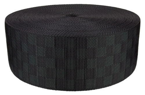 3 Inch Black Checkerboard Heavy Nylon Webbing Closeout 10 Yards