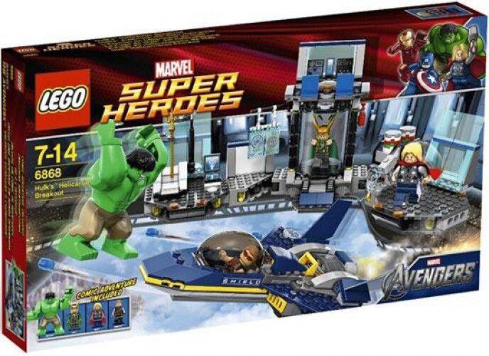 Lego Marvel Super Heroes Avengers Hulk's Helicarrier Breakout Set