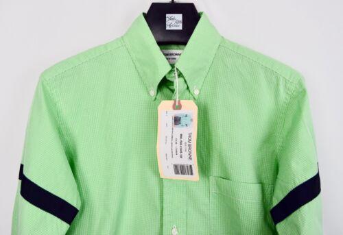 Thom Braccio Quadrettato Etichetta Da Msrp Con Fasce Camicia Browne Nuova Verde qg4Tat