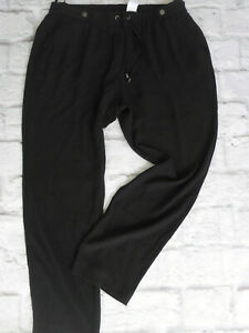 Trousers-Pull-on-Trousers-Guido-Maria-Kretschmer-Ladies-Size-44-Black-Tone-612
