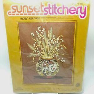 Crewel-Sunset-Stitchery-Hopi-Eagle-Design-Indian-Heritage-Vase-16x20-inch-2288