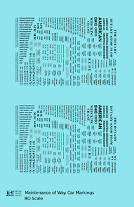 K4-HO-Decals-Maintenance-Of-Way-MOW-Data-and-Markings-Black