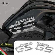 Set Adesivi Fianco Serbatoio Moto BMW R 1200 gs LC Silver