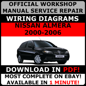 official workshop service repair manual for nissan almera 2000 2006 rh ebay co uk 2016 Nissan Sentra 2013 Nissan Sentra