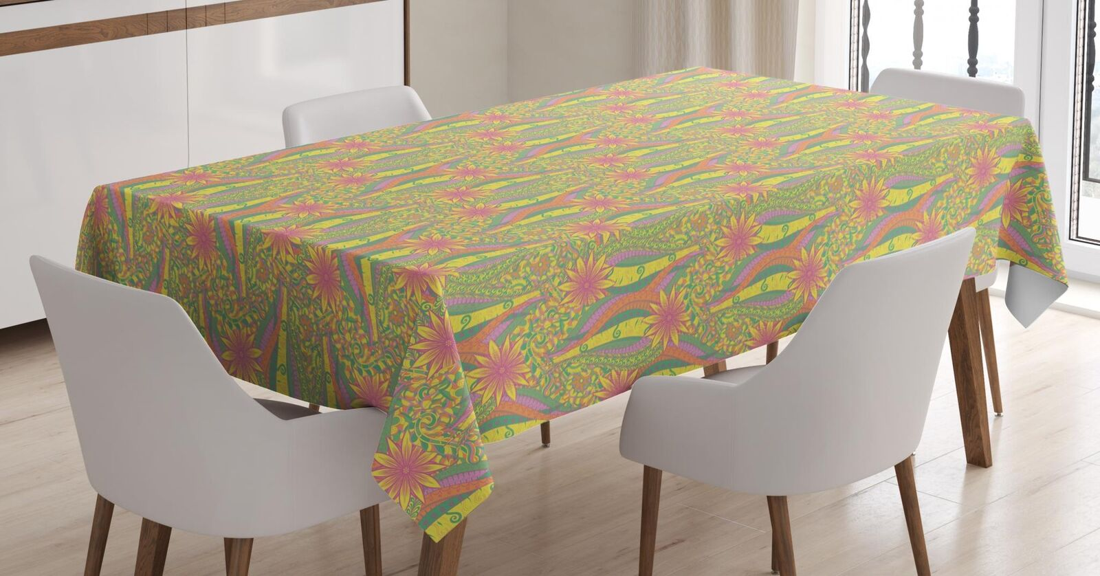 Pastel Tablecloth Ambesonne 3 Tailles Rectangular Table Cover Home Decor