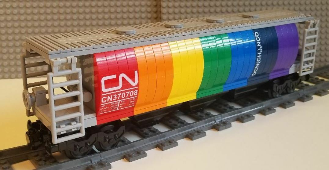 Lego Train Covered Hopper Canadian National -- PLEASE READ ITEM DESCRIPTION --