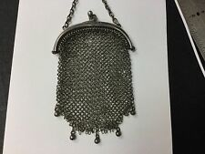 Sterling Silver Antique Chain Mail Mesh Coin Purse. Marked C & C  .925