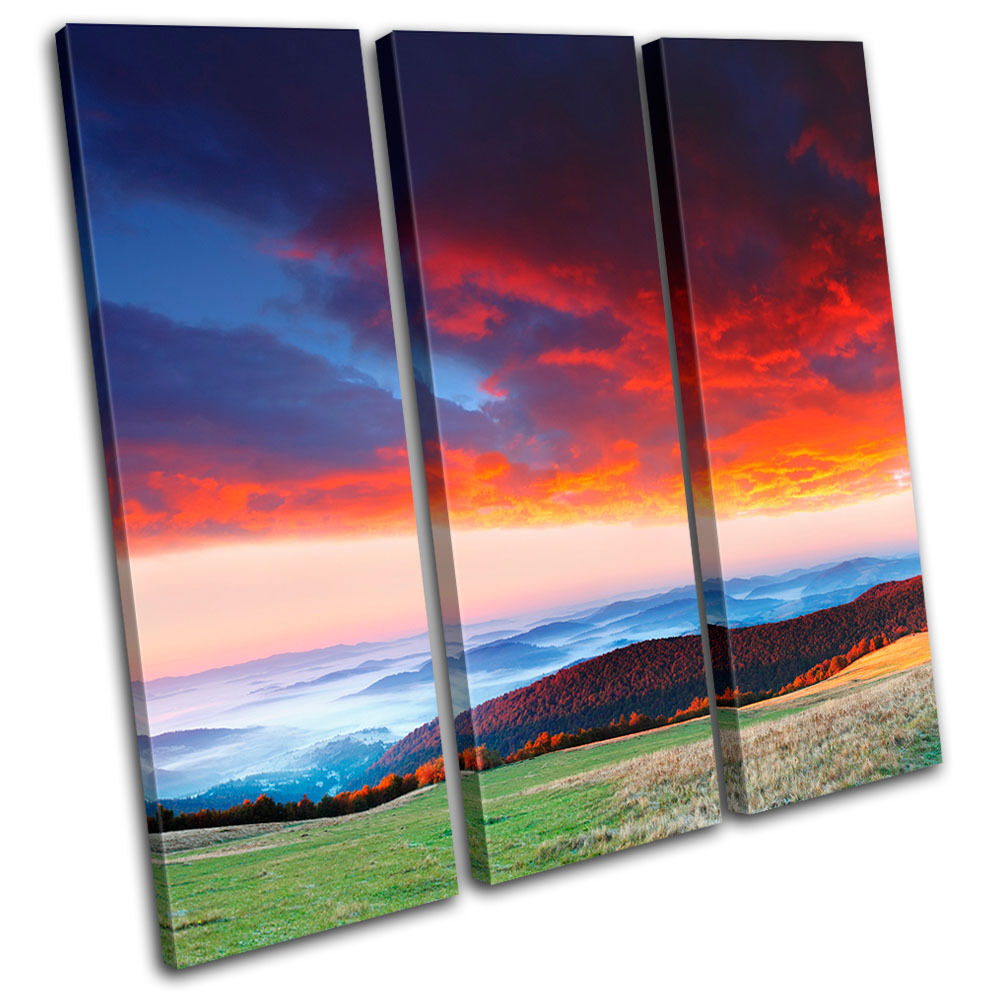 Countryside Mountain Sunset Landscape Canvas Art Picture Picture Picture Print Decorative Photo 653ce9