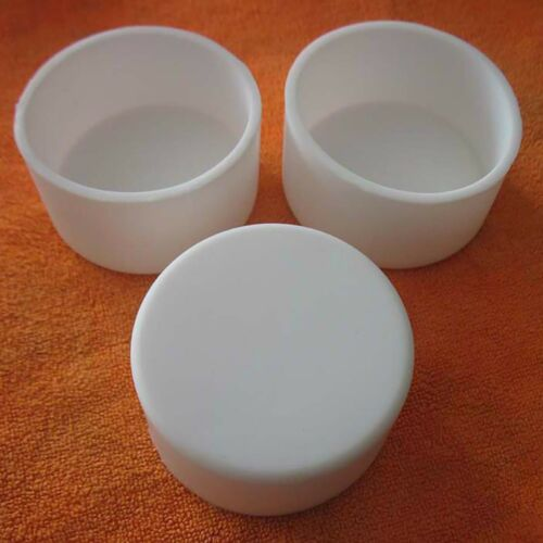 Round Silicone Rubber End Cover Caps Blanking For Pipe Tube White 32.5mm~78.5mm