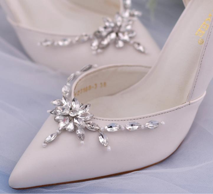 Rhinestone Shoe Accessory Wedding Heels Decoration Crystal Lady Shoe Buckle Clip