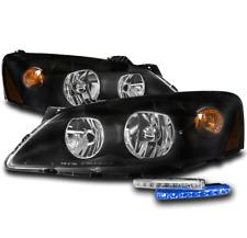 For 2005 2010 Pontiac G6 Gt Black Set Headlights Headlamp Withblue Led Signal Drl Fits Pontiac G6