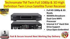 Technomate TM-Twin Full 1080p 3D HD Linux Satellite Receiver X 2 DVB-S2 Tuners