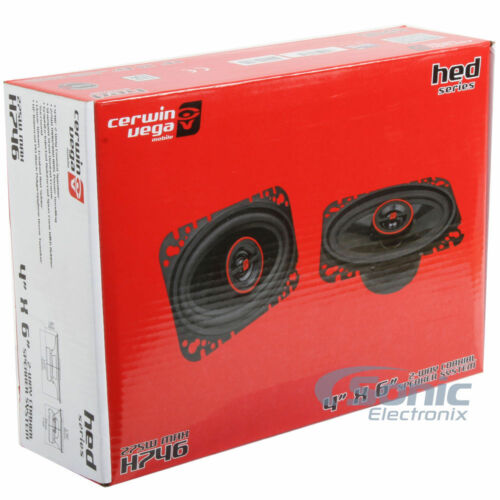 CERWIN-VEGA H746 550W 4x6 HED Series 2-way Coaxial Car Speakers