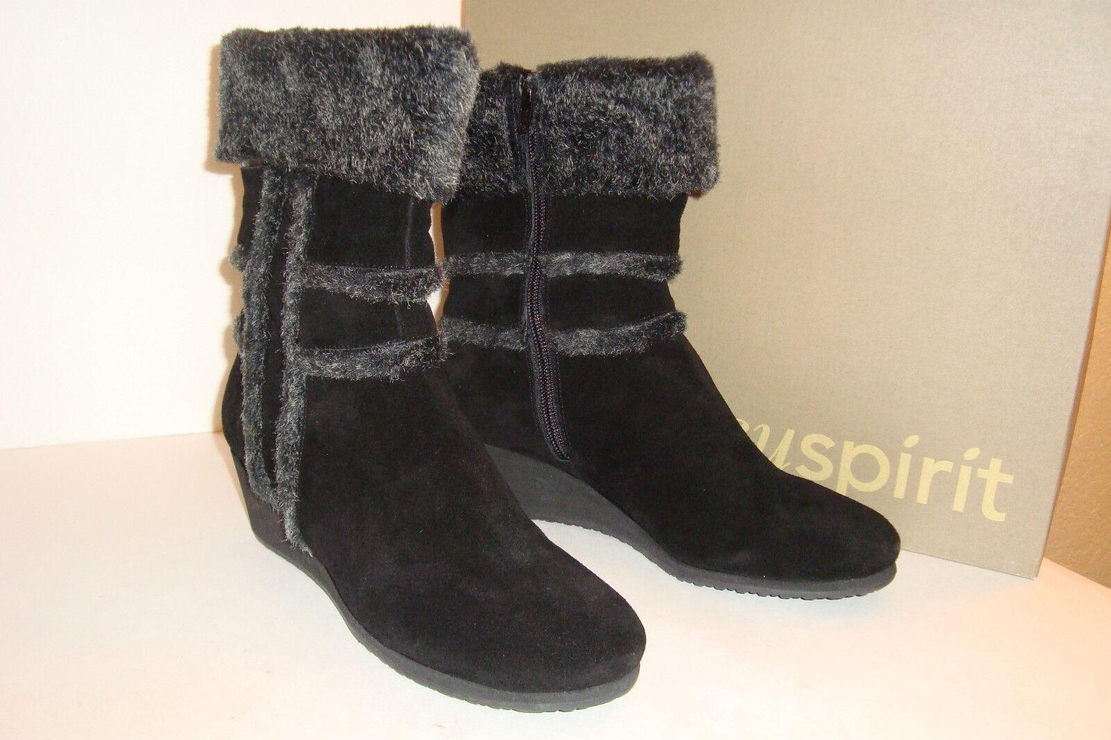 Easy Spirit para mujer Nuevo con Caja Brandia Negro gris gris gris botas De Gamuza Zapatos 8.5 MED Nuevo  Envío y cambio gratis.