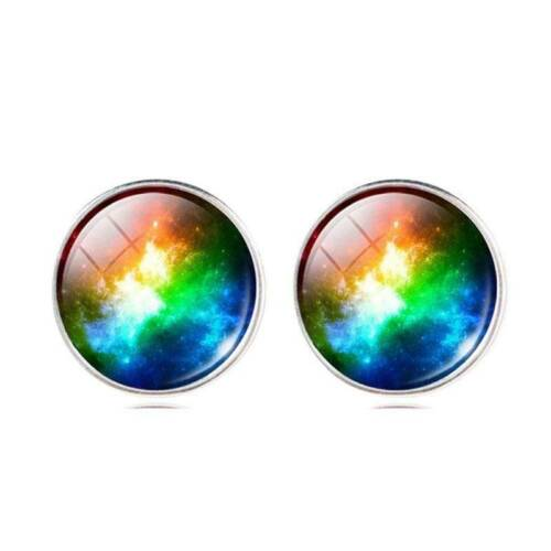 Galaxy Star Universe Verre Cabochon Boucles d/'oreille Fashion Jewelry Boucles D/'oreilles