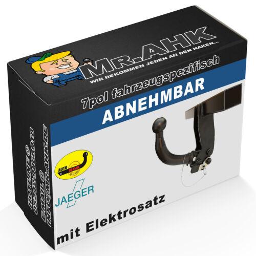 AutoHak enganche remolque para audi a4 b7 8e para trasera escalonada extraíble específico del 7pol