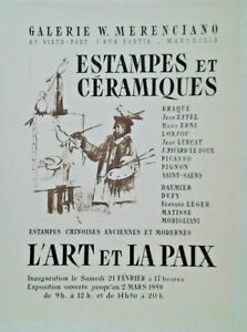 Affiche Ancienne Exposition Estampes & Ceramiques Galerie Merenciano Marseille Ot3itrap-10105845-247135767