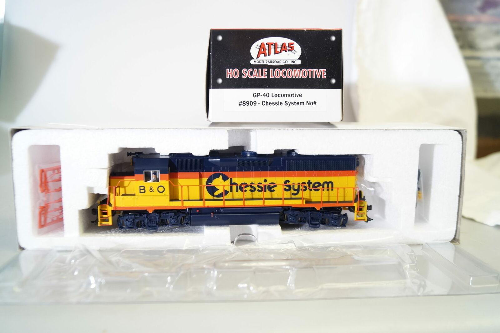 H0 8909 Atlas Classic Locomotora Diesel de Ee.uu. Gp 40 Chessie System,Nuevo