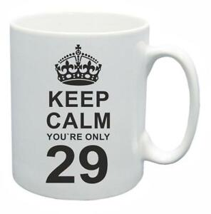29th Novelty Birthday Poison Present Tea Mug Keep Calm Your Only 29 Coffee Cup-afficher Le Titre D'origine Ventes Bon Marché