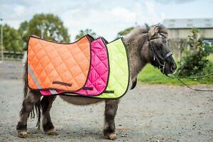 Pink Hi Vis Hi Viz Reflective Saddle Pad High Visibility Numnah Multi Colours