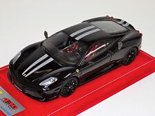 1/18 Looksmart MR Ferrari F430 Scuderia Nero DS Silver Stripe Black Wheel Alcant