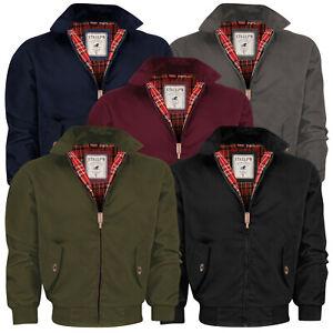 Para-hombre-Harrington-Jacket-Bomber-Clasico-Estilo-Vintage-y-Retro-Cremallera-Abrigo-Semental