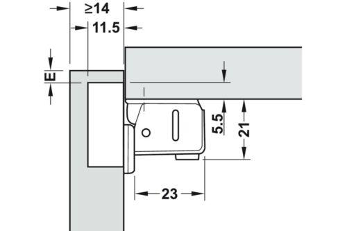 Manches courtes charnière CHARNIERE meubles Caravane charnière sans schließautomatik 95 °