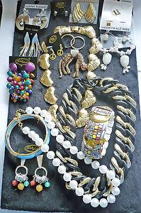 120-Teile-Modeschmuck-TOP-MIX-Strass-gold-silber-RestPosten-Geschaeftsaufloesung