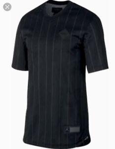 finest selection da4fc eed8d NIKE Air Jordan 9 Black Grey Mesh #23 Practice S/S Baseball ...