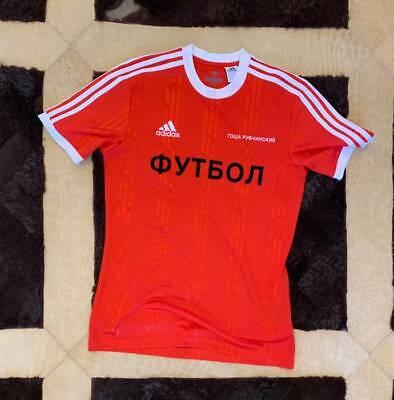 Gosha rubchinskiy × Adidas 17 AW Jersey T Shirt Logo Fußball rot M L | eBay
