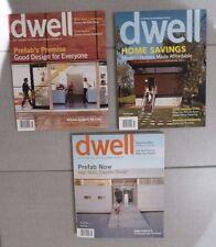 DWELL Modern Interior Home Design Magazine - 2005, 2006 & 2008  (3 issues)